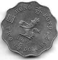 * HONG KONG 2 Dollars   1982 Km  37  Unc !!!!! - Hongkong