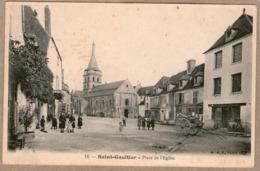 36 / SAINT-GAULTIER - Place De L'église (+ Enfants, Carriole, Commerces) St - France