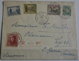 Belgio  Cover Crocce Rossa Raccomandata Huy Hoei Con Annullo Lyss Crocce Rossa .(KB-27915 - 1914-1915 Cruz Roja