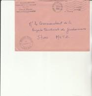 H 4 - Enveloppe  Commissariat Administratif Vaguemestre  COMAR  - MARSEILLE ARMEES AN 1 - Marcofilie (Brieven)