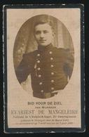 GESNEUVELD 1914 SOLDAAT EVARIST DE MANGELEIRE 21e LINIEREGT. DRONGEN 1892 - Obituary Notices