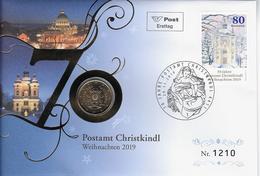 Genummerde Beperkte Uitgave Christkindl Met Vaticaanmunt 0.50 Euro - Autriche