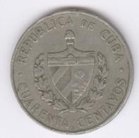 CUBA 1962: 40 Centavos, KM 32 - Cuba
