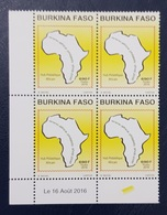 BURKINA FASO AFRICAN HUB SHOP AFRICAIN JOINT ISSUE EMISSION COMMUNE CONJOINTE COMMON DESIGN 2016 MNH CORNER DATE - Emissions Communes