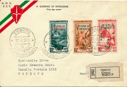 ITALIEN / TRIEST - 27.6.53  FD  ,  Messe In Triest  - R-Brief - 7. Triest