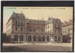 38229 . GRENOBLE . L HOTEL DE POSTES ET LA PLACE VAUCANSON . B. F. - Grenoble
