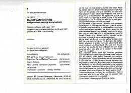 DP 9385 - DANIEL VANHOOREN - GARWIG - BEERST 1937 + KEIEM 1987 - Images Religieuses