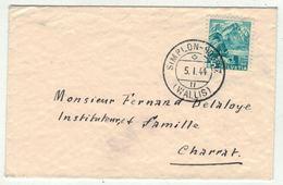 Suisse // Schweiz // Switzerland // 1940-1949 // Lettre Simpson-Dorf Pour Charrat Le 5.01.1944 - Covers & Documents