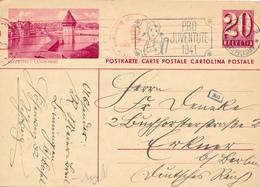 SUISSE / SCHWEIZ -  BASEL  -  1941 , BPK Luzern  Nach Erkner / Berlin - Stamped Stationery