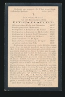 PASTOOR BAARLE - PETRUS DE SUTTER - OOST EEKLO 1825 - BAARLE 1908 - Avvisi Di Necrologio