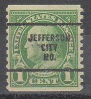 USA Precancel Vorausentwertung Preo, Bureau Missouri, Jefferson City 597-63 - Vereinigte Staaten
