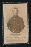 GESNEUVELD APRIL 1918  SOLDAAT ADOLF DE MANGELEIRE 13e LINIEREGT. DRONGEN 1894 - Obituary Notices