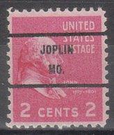 USA Precancel Vorausentwertung Preo, Bureau Missouri, Joplin 806-71 - Vereinigte Staaten
