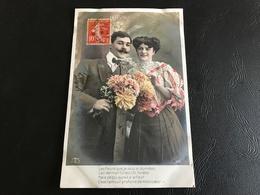475 - (Couple) Les Fleurs Que Je Vous Ai Données L'an Dernier Furent Tot Fanées Mais Ce Qui Survit à La Fleur C'est.... - Couples