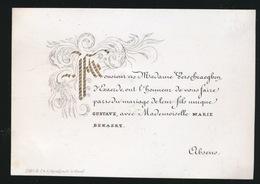 GENT ADEL  -PORSELINKAART  10 X 7  CM   MR&Mme VERSCHRAEGEN D'EXAERDE - FILS GUSTAVE AVEC MARIE BEKAERT - Wedding