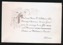 GENT ADEL  -PORSELINKAART  10 X 7  CM   MR&Mme BEKAERT  SA FILLE AVEC  GUSTAAF VERSCHRAEGEN D'EXAERDE - Wedding