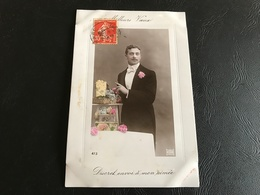 473 - MEILLEURS VOEUX Discret Envoi à Mon Aimée (glacée & Cadre) - Neujahr