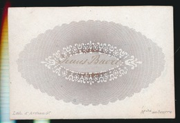 PORSELINKAART +- 9 X 5  CM   TRUUS BUERT - Visiting Cards