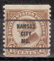 USA Precancel Vorausentwertung Preo, Bureau Missouri, Kansas City 598-63 - Vereinigte Staaten