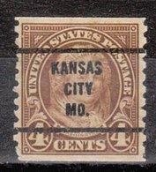USA Precancel Vorausentwertung Preo, Bureau Missouri, Kansas City 301-63, Perf. Not Perfect - Preobliterati