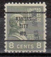 USA Precancel Vorausentwertung Preo, Bureau Missouri, Kansas City 813-63 Dated - Vereinigte Staaten