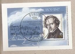 DDR - Foglietto FDC Con Annullo Speciale MICHEL Block 76: 175° Anniversario Di Felix Mendelssohn Bartholdy - 1984 * G - Musica