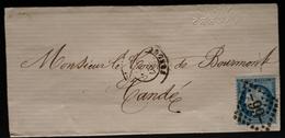 """Frankreich Brief Nummernstempel """"99"""" Gelaufen CANDE - 1871-1875 Ceres"""