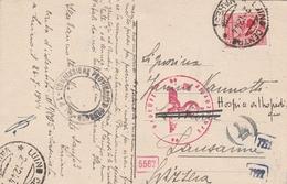 Italie Carte Censurée Pour La Suisse 1944 - Marcophilie