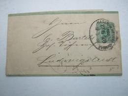 1886 , Bahnpost  HAGENOW - Wismar  ,  Stempel Auf Streifband - Brieven En Documenten