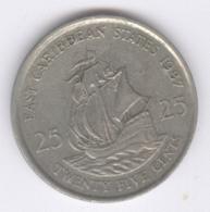 EAST CARIBBEAN STATES 1987: 25 Cents, KM 14 - Caribe Oriental (Estados Del)
