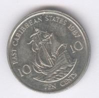EAST CARIBBEAN STATES 1987: 10 Cents, KM 13 - Caribe Oriental (Estados Del)
