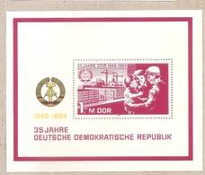 DDR - Foglietto Nuovo MNH** MICHEL Block 78: 35 Anni Della Repubblica Democratica Tedesca  - 1984 * G - Nuovi