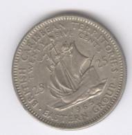 EAST CARIBBEAN STATES 1965: 25 Cents, KM 6 - Caribe Oriental (Estados Del)