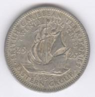 EAST CARIBBEAN STATES 1955: 25 Cents, KM 6 - Caribe Oriental (Estados Del)
