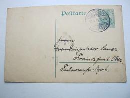 1913 , HULTSCHIN , Klarer   Stempel Auf Karte - Brieven En Documenten