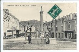 Banon Vue De La Place De La Fontaine - France