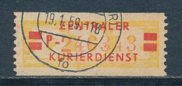DDR Dienstmarken B 19 II Kennbuchstabe P ORIGINAL Gestempelt Mi. 20,- - Servizio