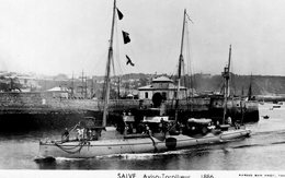 Marine Militaire Francaise  -  'SALVE'  -  Aviso-Torpilleur 1886  -   Marius Bar Photocarte - Carte Postale - Warships