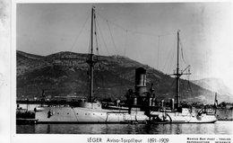 Marine Militaire Francaise  -  'LEGER'  -  Aviso-Torpilleur 1891  -   Marius Bar Photocarte - Carte Postale - Guerre