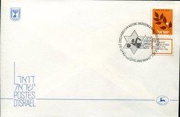 50006 Israel Cover With Special Postmark 1986 Tel Aviv. ,swimming,dips,plonger Schwimmen - Swimming