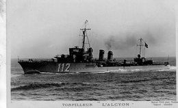 Marine Militaire Francaise  -  'L'ALCYON'  -  Torpilleur   -   Marius Bar Photocarte - Carte Postale - Guerra
