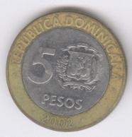 DOMINICANA 2002: 5 Pesos, KM 89 - Dominikanische Rep.