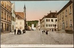 Ak Deutschland - Kehlheim - Marktplatz Und Altmühlstrasse - Gel. 1914 - Kelheim
