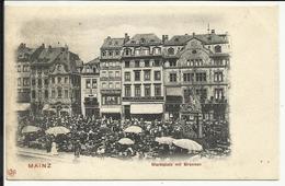 * MAINZ , Marktplatz Mit Brunnen , CPA ANIMEE - Mainz