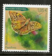 ANDORRA. Le Grand Cardinal, Papillon De La Principauté, Un Timbre Neuf **, Année 2019 - Butterflies