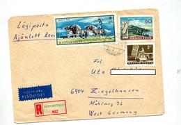 Lettre Recommandée Siofokfurdo Sur Cheval Balaton - Poststempel (Marcophilie)
