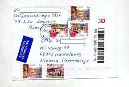 Lettre Recommandée Legnica Sur Eglise - Poststempel - Freistempel