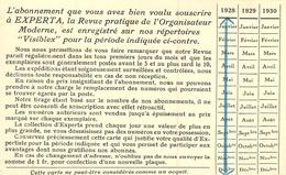C P A Publicité EXPERTA REVUE PRATIQUE DE L ORGANISATEUR MODERNE DEQUEKER RUE DESNONETTES PARIS - Publicité