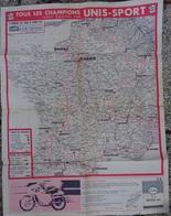 CARTE ITINERAIRE DU TOUR DE FRANCE 1961 - LE MIROIR DES SPORTS - UNIS - SPORT - Mappe