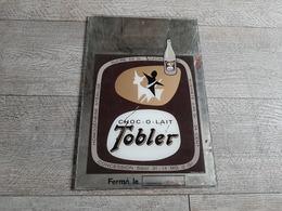 Miroir Plaque Publicitaire Verre Chocolat Tobler Publicité - Mirrors